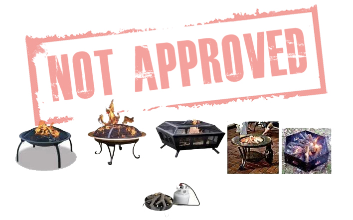 Types of fire pits not approved for Disney